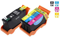 Dell GRMC3 & XGRC3 Ink Compatible Cartridge 2 Set (1 Black and 1 Tri Color)