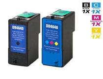 Compatible Dell M4640 & M4646 Ink Remanufactured Cartridge High Yield 2 Set (1 Black and 1 Tri Color)