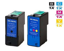 Dell MK992 & MK993 Ink Remanufactured Cartridge High Yield 2 Set (1 Black and 1 Tri Color)