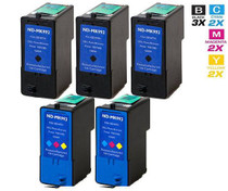 Compatible Dell MK992 & MK993 Premium Quality Ink Remanufactured Cartridge High Yield 5 Set (3 Black and 2 Tri Color)