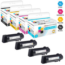 Dell Color Laser S2825 Premium OEM Quality Laser Toner Cartridges Compatible 4 Color Set