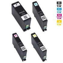 Compatible Dell V725w Ink Cartridge Extra High Yield 4 Color Set