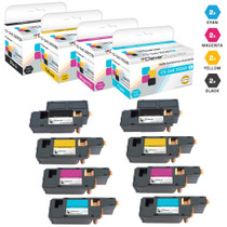 Compatible Dell Laser Toner Cartridges 2 X BCMY - 8 Color Set (XKP2P/ YX24V/ MHT79/ J95NM)