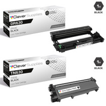 Brother DR630-TN630 Compatible Black Drum and Toner Cartridge Set