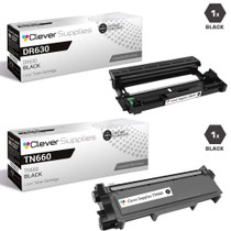 Brother DR630-TN660 Compatible Black Drum and Toner Cartridge Set