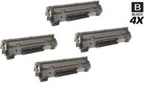 HP CF283A Toner Compatible Cartridge Black 4 Pack/ HP 83A
