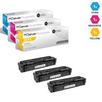 HP 201A Laser Toner Cartridges Compatible 3 Color Set (CF401A/ CF403A/ CF402A)