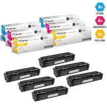 CS Compatible Replacement for HP 201X Laser Toner Cartridges High Yield 2 X CMY - 6 Color Set (CF401X/ CF403X/ CF402X)