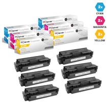HP 410A Laser Toner Cartridges Compatible 2 X CMY - 6 Color Set (CF411A/ CF413A/ CF412A)