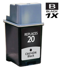 HP C6614DN (HP-20) Ink Cartridge Remanufactured Black