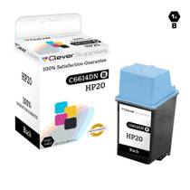 HP C6614DN (HP-20) Premium OEM Quality Ink Cartridge Remanufactured Black