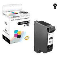 HP C6615DN (HP-15) Ink Cartridge Remanufactured Black
