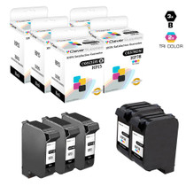 CS Compatible Replacement for HP C8789FN (HP-15 & 78) Ink Cartridge Remanufactured 3 Black and 2 Tri Color