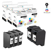 HP C8790FN (HP-23 & 45) Premium OEM Quality Ink Cartridge Remanufactured 3 Black and 2 Tri Color
