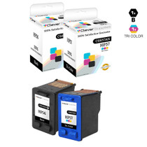 HP C9321FN (HP-56 & 57) Ink Cartridge Remanufactured Black and Tri Color - 2 Pack