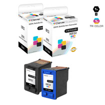 CS Compatible Replacement for HP C9351AN/ C9352AN (HP-21 & 22) Ink Cartridge Remanufactured Black and Tri Color - 2 Pack