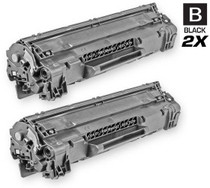 CS Compatible Replacement for HP CE285A Toner Cartridge Black 2 Pack/ HP 85A