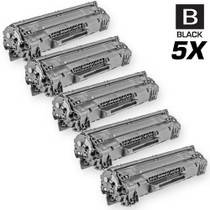 CS Compatible Replacement for HP CE285A Toner Cartridge Black 5 Pack/ HP 85A