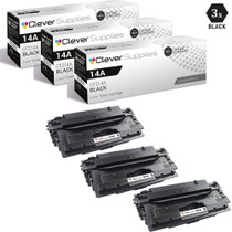 CS Compatible Replacement for HP CF214A Premium Quality Toner Cartridge Black 3 Pack/ HP 14A