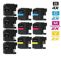 Compatible Brother LC207-LC205 InkJet Cartridge Extra High Yield 10 Color Set (LC207BK/ LC205C/ LC205M/ LC205Y)