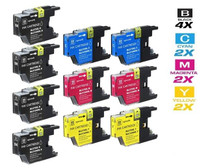 Compatible Brother LC75 InkJet Cartridge 10 Color Set (LC75BK/ LC75C/ LC75M/ LC75Y)