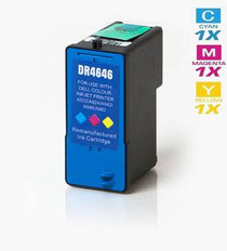 Compatible Dell M4646 Ink Remanufactured Cartridge High Yield Tri Color