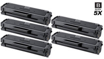 Compatible Samsung ML-2161 Laser Toner Cartridge Black 5 Pack