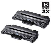 Compatible Samsung MLT-D105L High Yield Laser Toner Cartridge Black 2 Pack