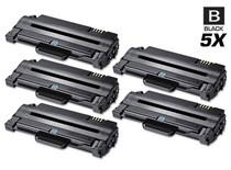 Compatible Samsung MLT-D105L High Yield Laser Toner Cartridge Black 5 Pack