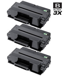Compatible Samsung MLT-D205L High Yield Laser Toner Cartridge Black 3 Pack