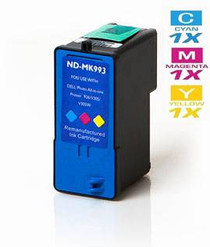 Compatible Dell MK993 Ink Remanufactured Cartridge High Yield Tri Color