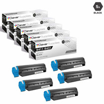 Compatible Okidata B411DN Laser Toner Cartridges Black 5 Pack