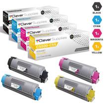 Compatible Okidata C5500DN Laser Toner Cartridges High Yield 4 Color Set