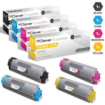 Compatible Okidata C5800N Premium Quality Laser Toner Cartridges High Yield 4 Color Set