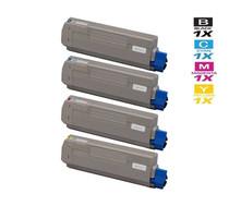 Okidata C5850DN Laser Toner Cartridges Compatible 4 Color Set