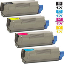 Compatible Okidata C5900N Laser Toner Cartridges High Yield 4 Color Set