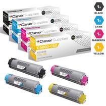 Okidata C6000 Laser Toner Cartridges Compatible 4 Color Set