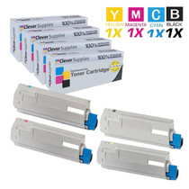 Compatible Okidata C6000DN Premium Quality Laser Toner Cartridges 4 Color Set