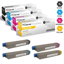 Compatible Okidata C831N Premium Quality Laser Toner Cartridges 4 Color Set