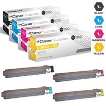Compatible Okidata C9800GAMFP Laser Toner Cartridges 4 Color Set