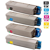 Okidata CX2032 Laser Toner Cartridges Compatible 4 Color Set
