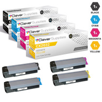 Okidata CX2032 MFP Premium OEM Quality Laser Toner Cartridges Compatible 4 Color Set