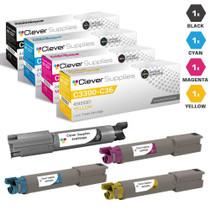 Compatible Okidata C3300N Laser Toner Cartridges 4 Color Set