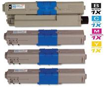 Compatible Okidata C511DN Laser Toner Cartridges 4 Color Set