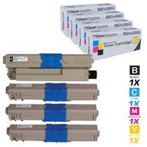 Compatible Okidata C511DN Premium Quality Laser Toner Cartridges 4 Color Set