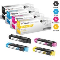 Compatible Okidata C5250DN Laser Toner Cartridges 4 Color Set