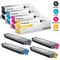 Compatible Okidata C830DN Premium Quality Laser Toner Cartridges 4 Color Set