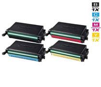 Compatible Samsung CLP-660A Laser Toner Cartridges 4 Color Set (CLP-K660A/ CLP-C660A/ CLP-M660A/ CLP-Y660A)