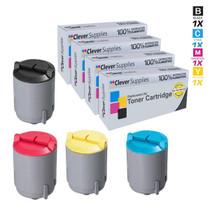 Compatible Samsung CLX-2161K Premium Quality Laser Toner Cartridge 4 Color Set