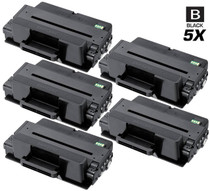 Compatible Samsung MLT-D205L Premium Quality High Yield Laser Toner Cartridge Black 5 Pack